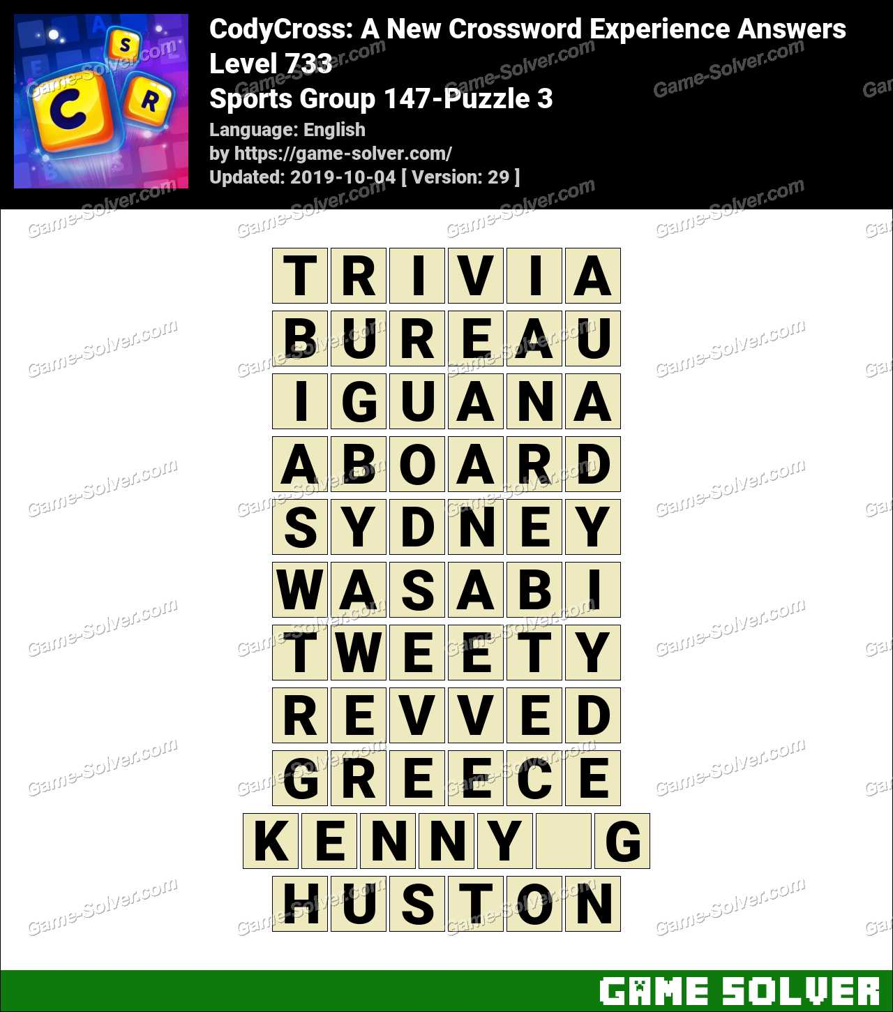 CodyCross Sports Group 147-Puzzle 3 Answers