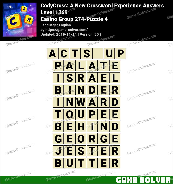 CodyCross Casino Group 274-Puzzle 4 Answers