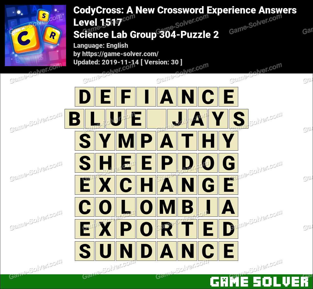 CodyCross Science Lab Group 304-Puzzle 2 Answers