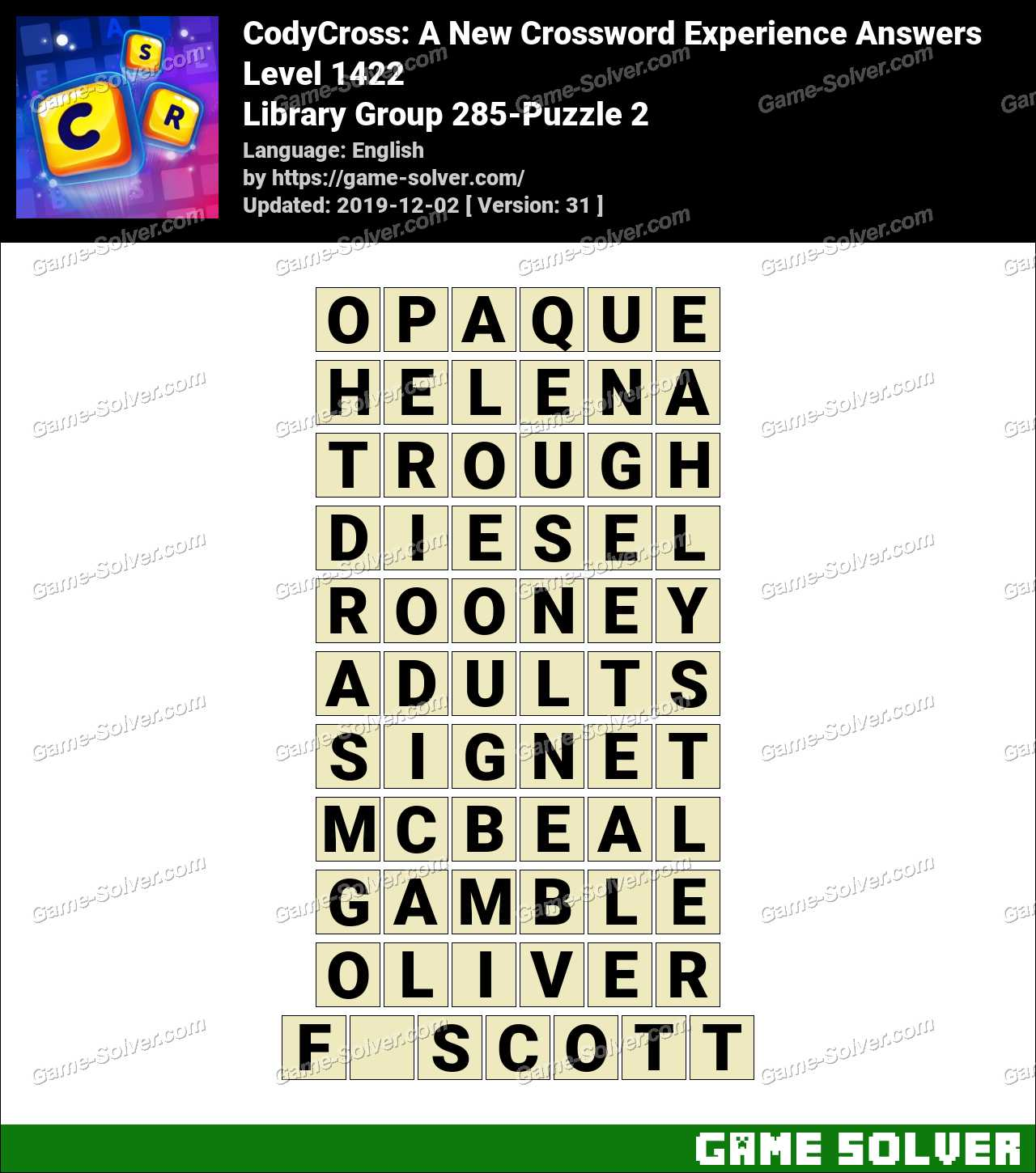 CodyCross Library Group 285-Puzzle 2 Answers
