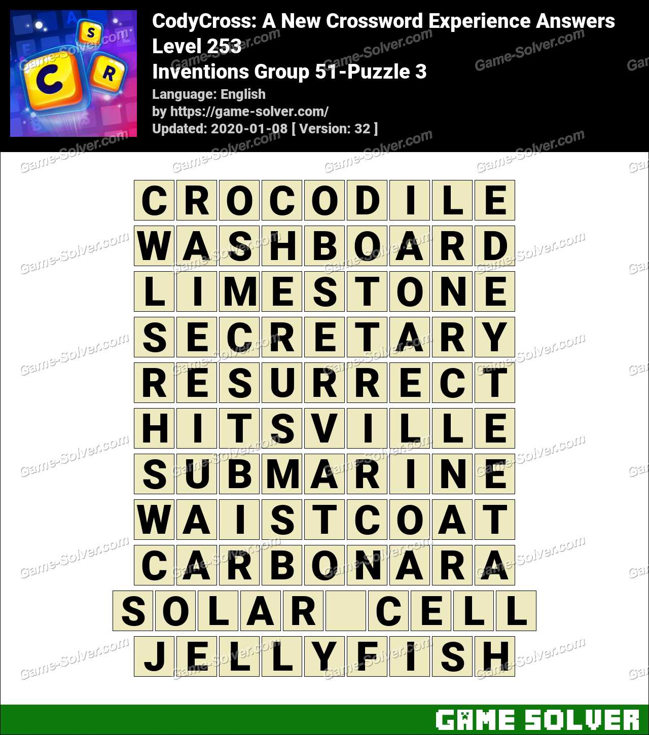 CodyCross Inventions Group 51-Puzzle 3 Answers