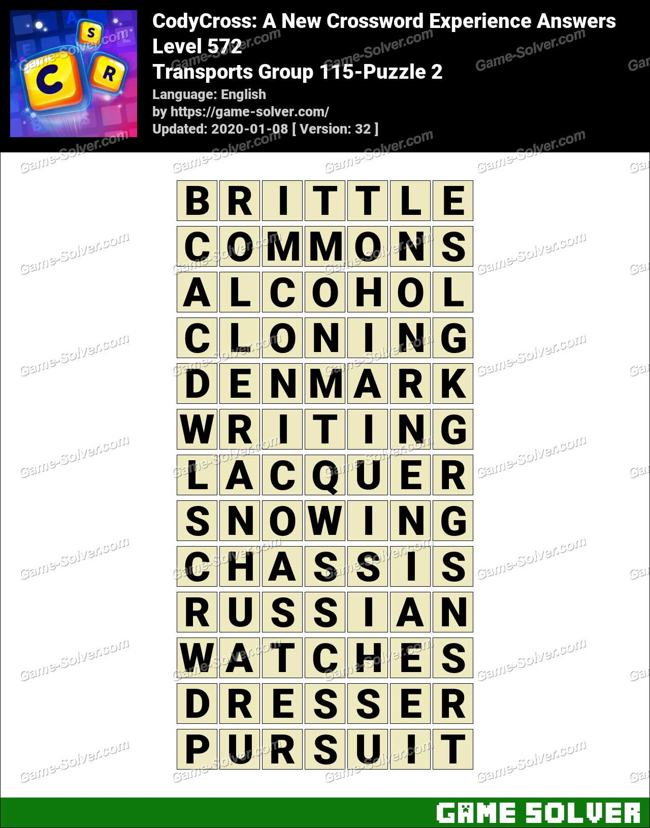CodyCross Transports Group 115-Puzzle 2 Answers