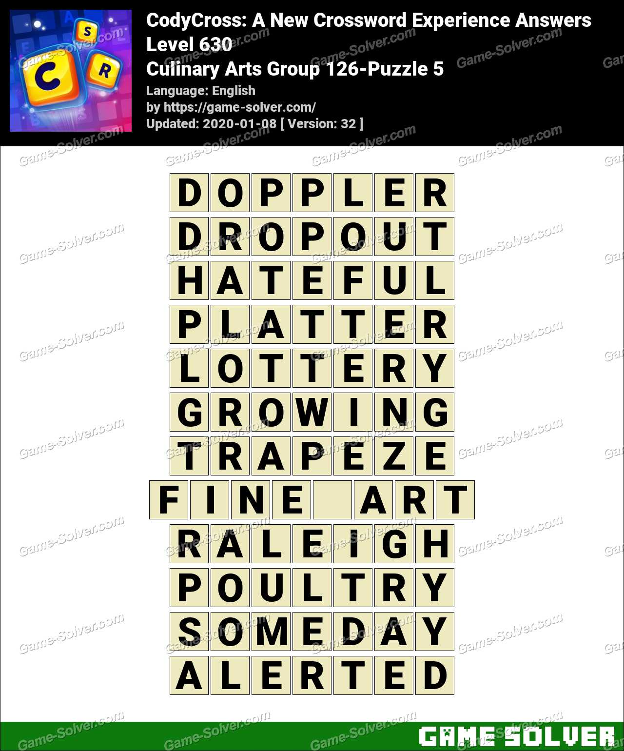 CodyCross Culinary Arts Group 126-Puzzle 5 Answers