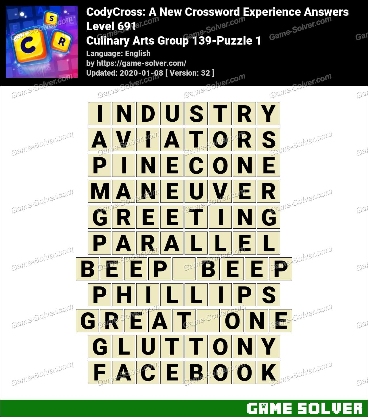 CodyCross Culinary Arts Group 139-Puzzle 1 Answers