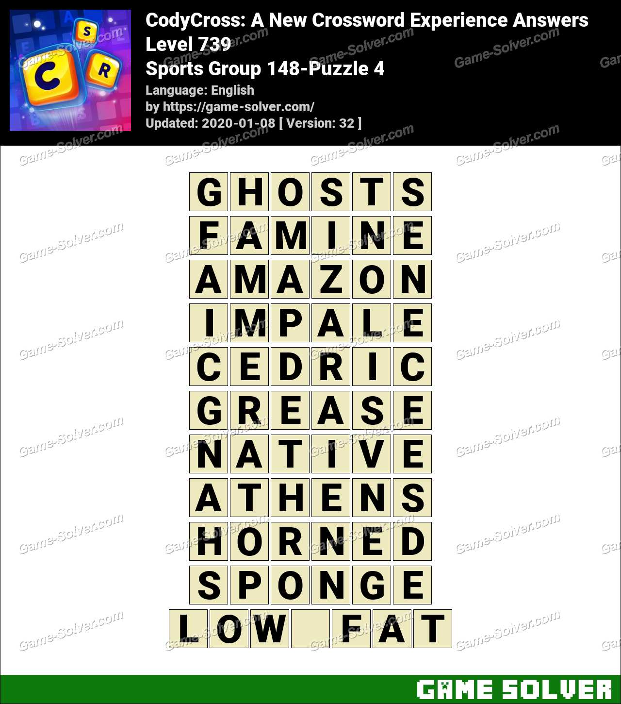 CodyCross Sports Group 148-Puzzle 4 Answers