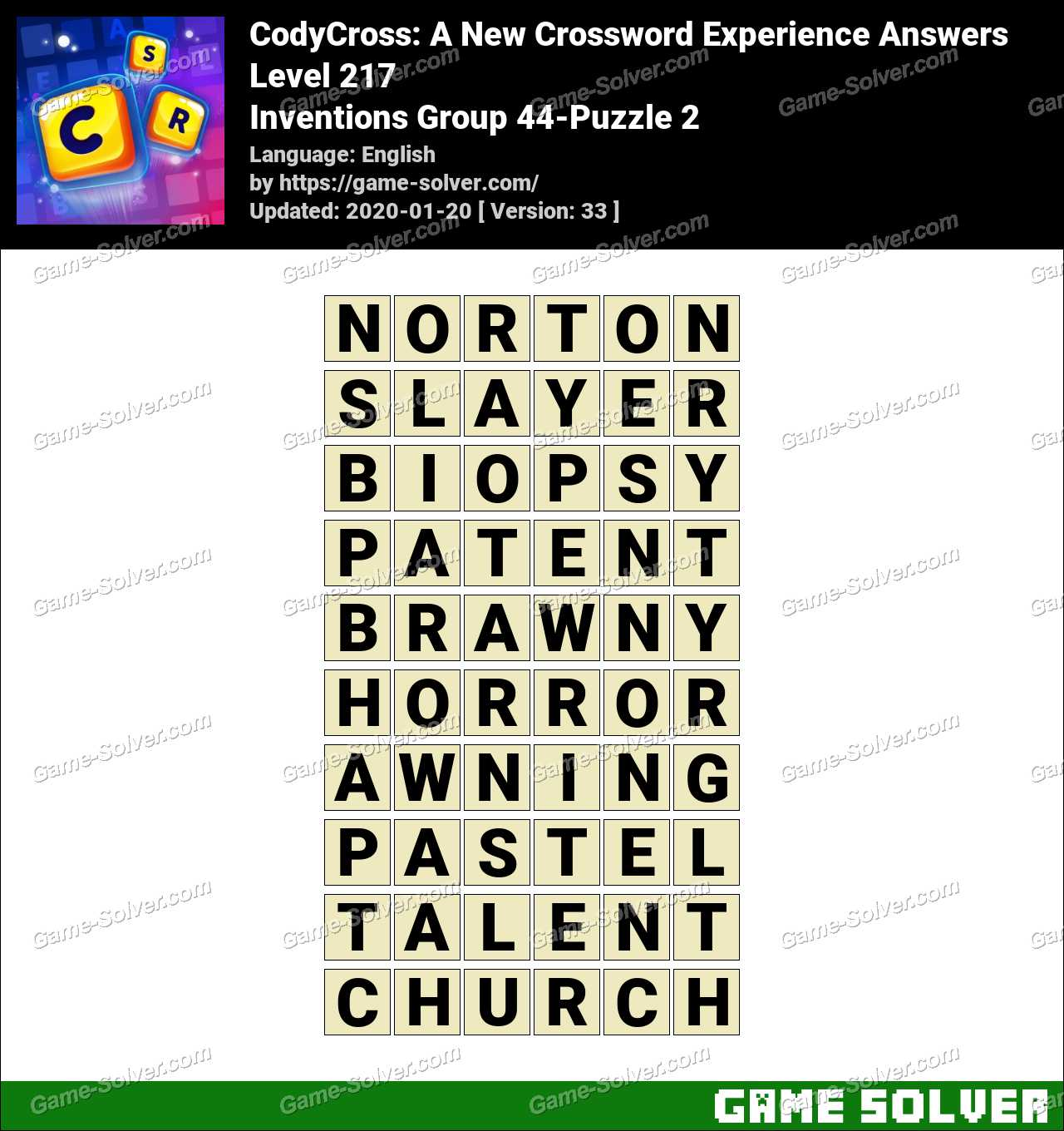 CodyCross Inventions Group 44-Puzzle 2 Answers