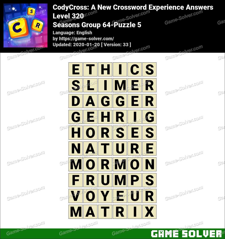 CodyCross Seasons Group 64-Puzzle 5 Answers