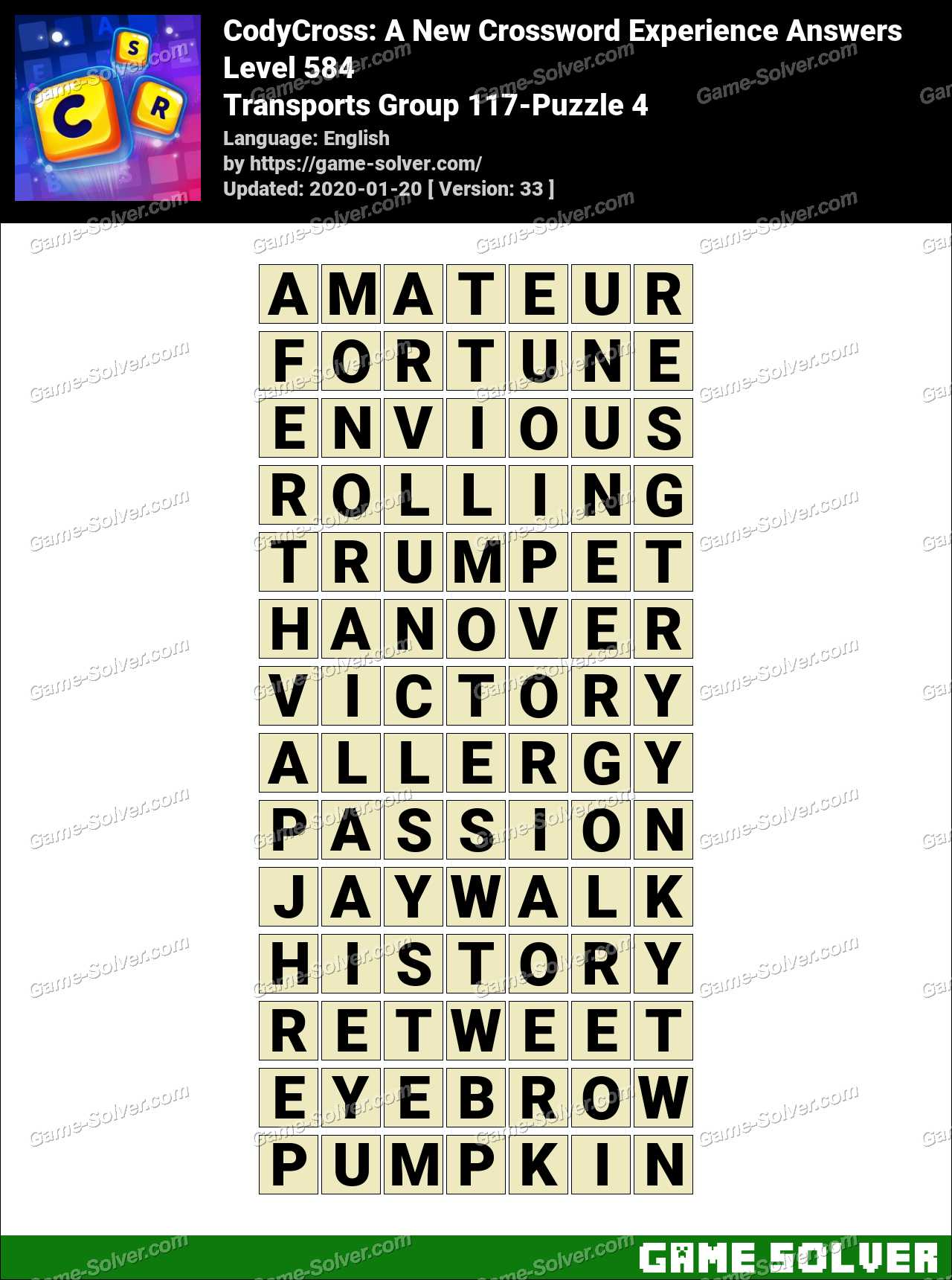CodyCross Transports Group 117-Puzzle 4 Answers
