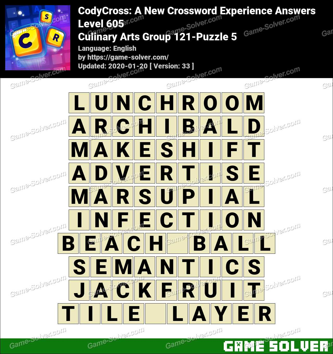 CodyCross Culinary Arts Group 121-Puzzle 5 Answers