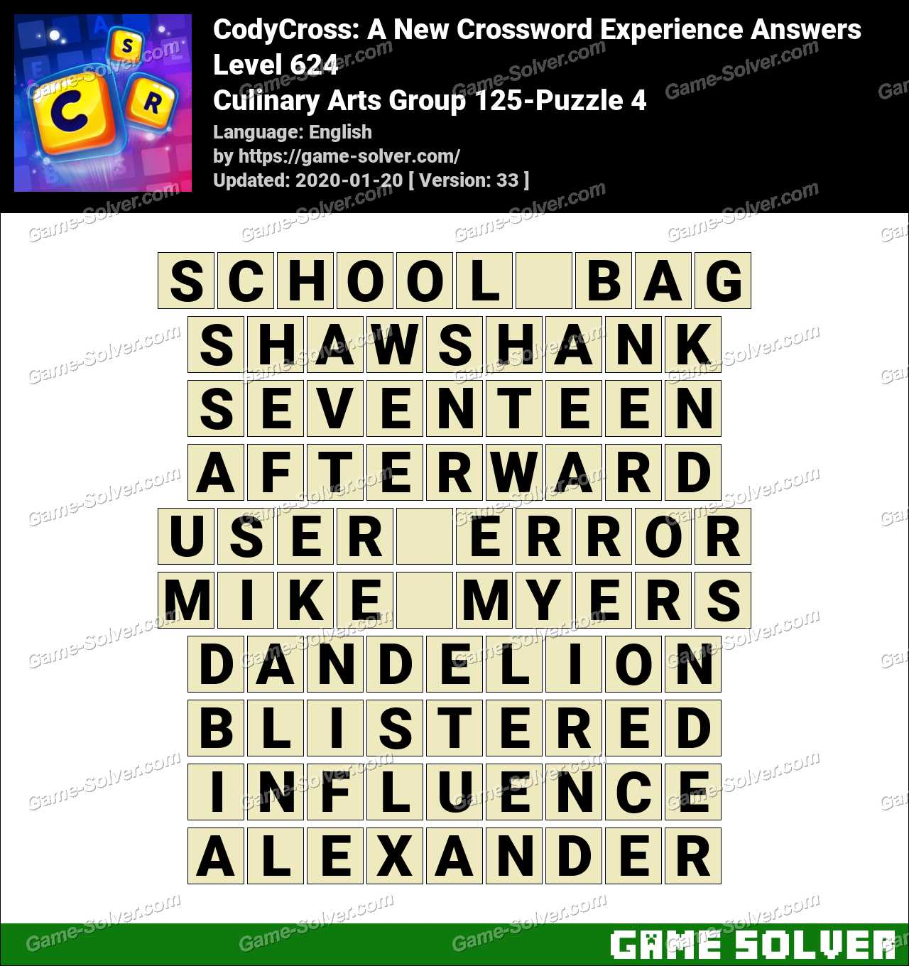 CodyCross Culinary Arts Group 125-Puzzle 4 Answers