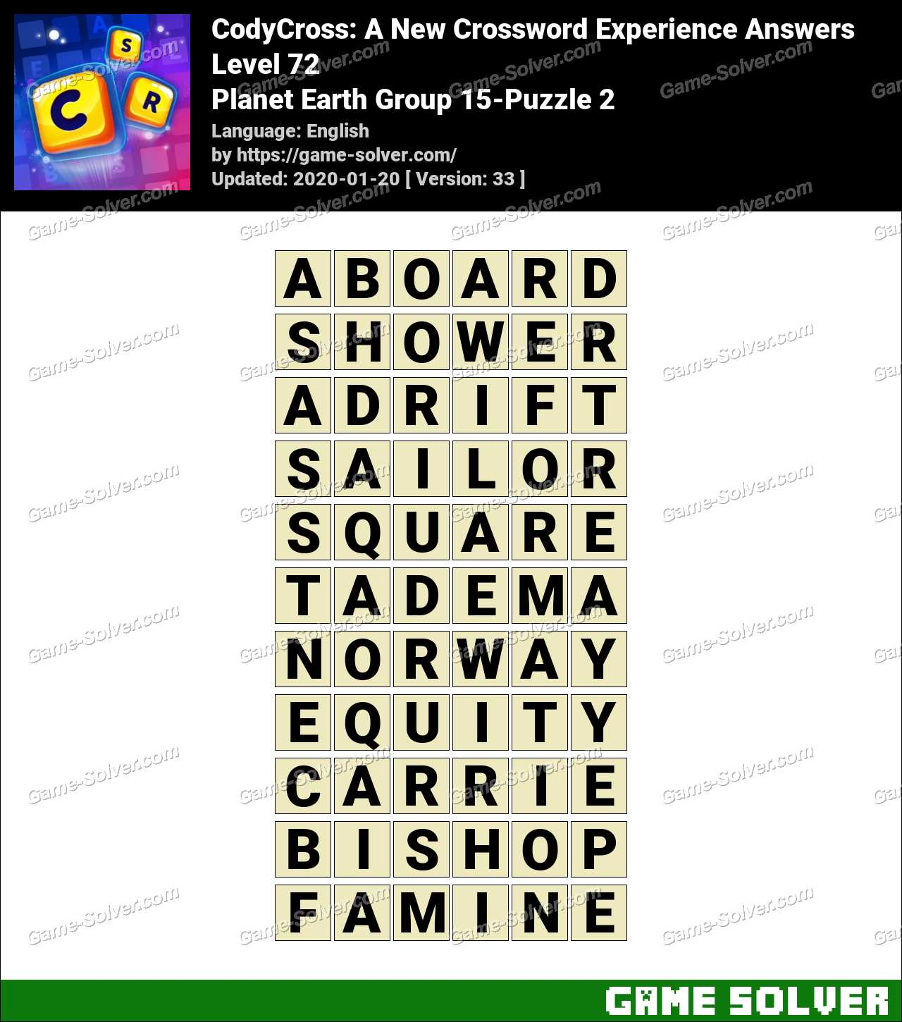 CodyCross Planet Earth Group 15-Puzzle 2 Answers