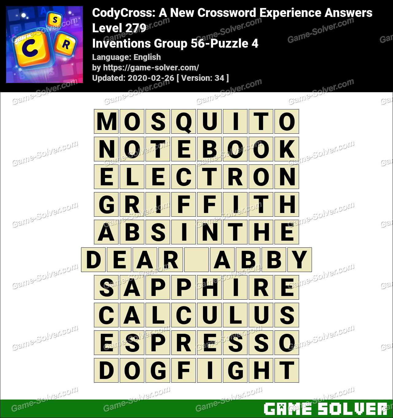 CodyCross Inventions Group 56-Puzzle 4 Answers