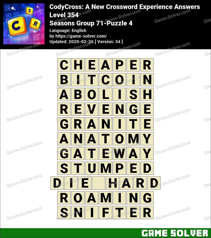 CodyCross Seasons Group 71-Puzzle 4 Answers