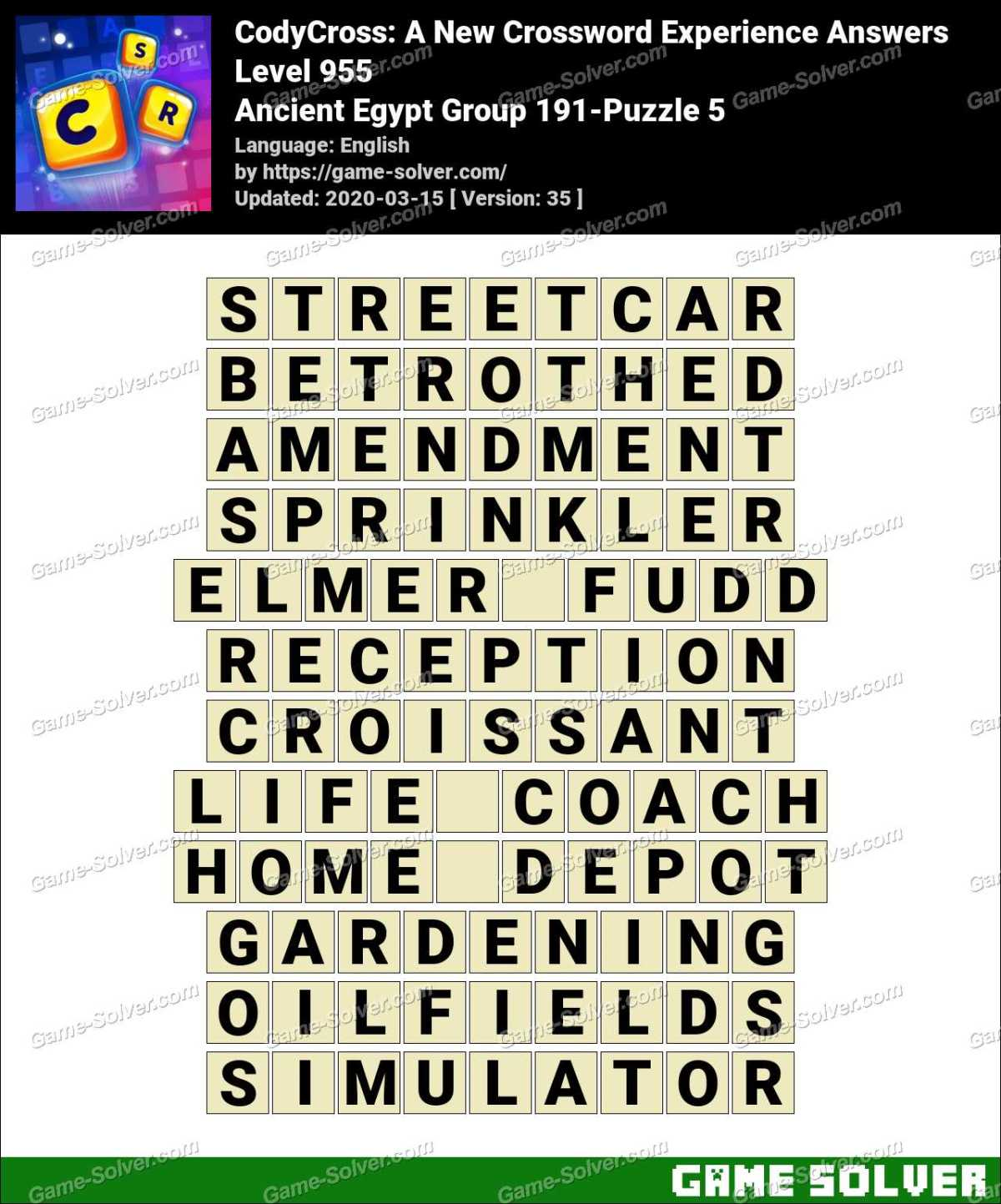CodyCross Ancient Egypt Group 191-Puzzle 5 Answers