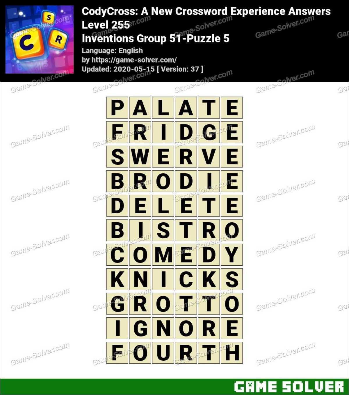 CodyCross Inventions Group 51-Puzzle 5 Answers