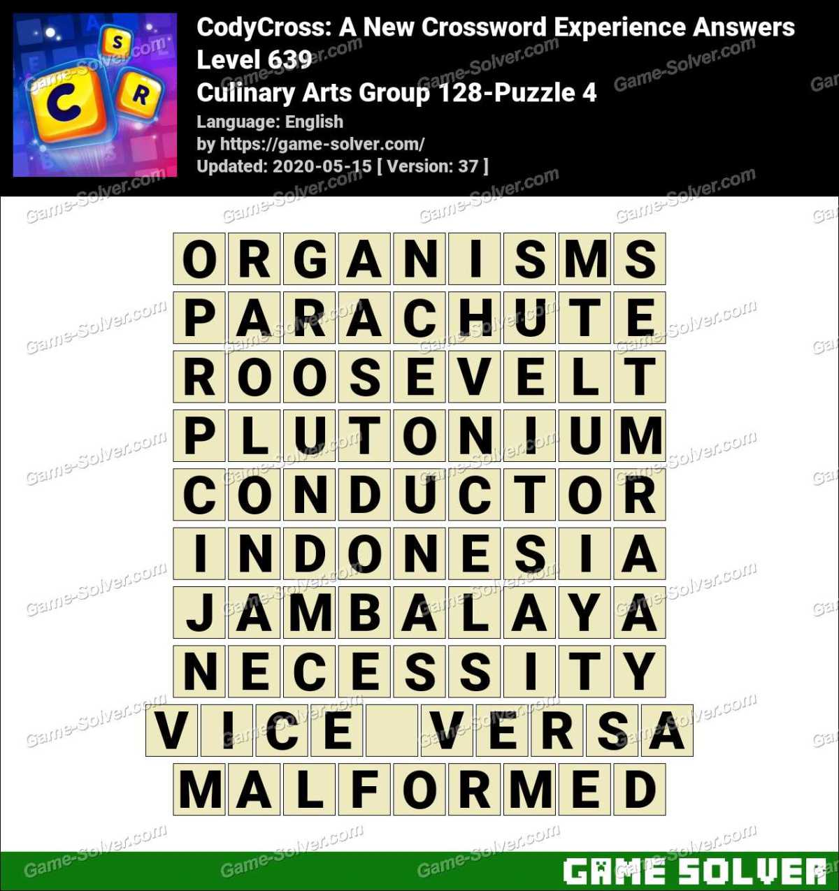 CodyCross Culinary Arts Group 128-Puzzle 4 Answers