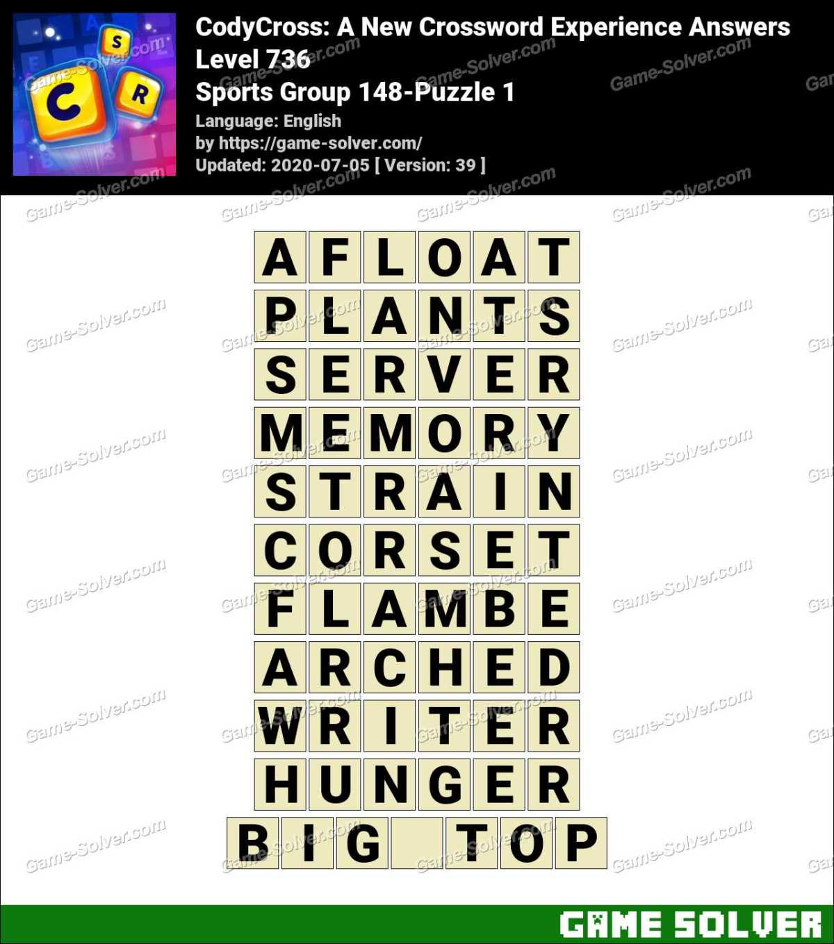 CodyCross Sports Group 148-Puzzle 1 Answers