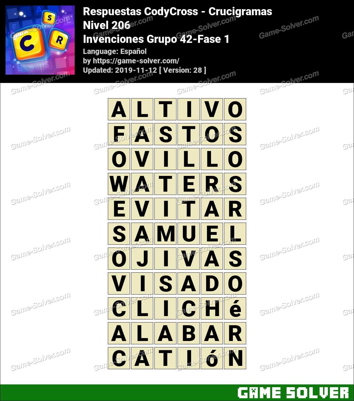 Respuestas CodyCross Invenciones Grupo 42-Fase 1