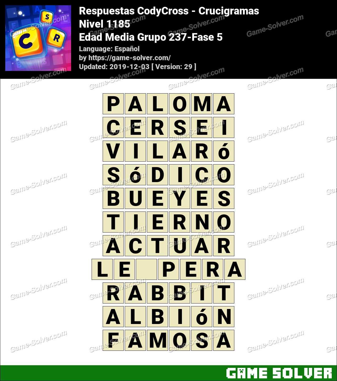 Respuestas CodyCross Edad Media Grupo 237-Fase 5