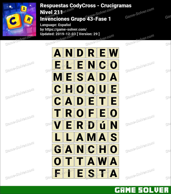 Respuestas CodyCross Invenciones Grupo 43-Fase 1