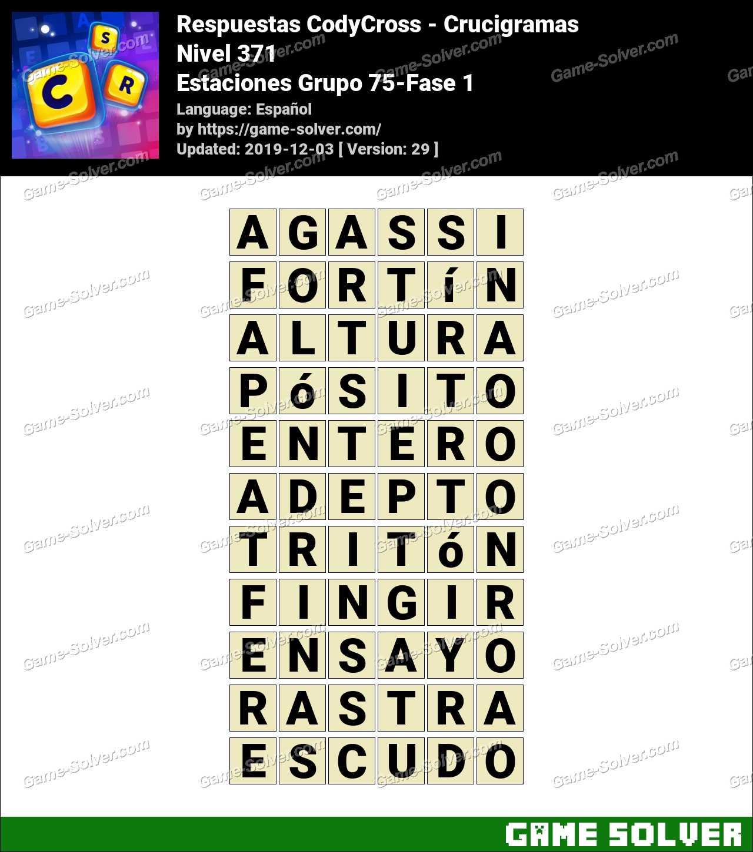 Respuestas CodyCross Estaciones Grupo 75-Fase 1