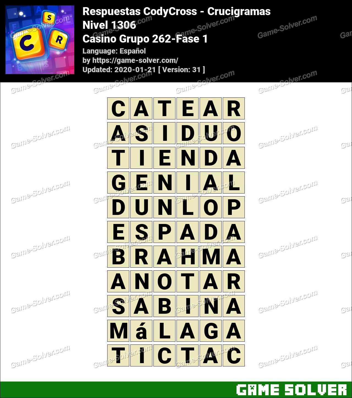 Respuestas CodyCross Casino Grupo 262-Fase 1