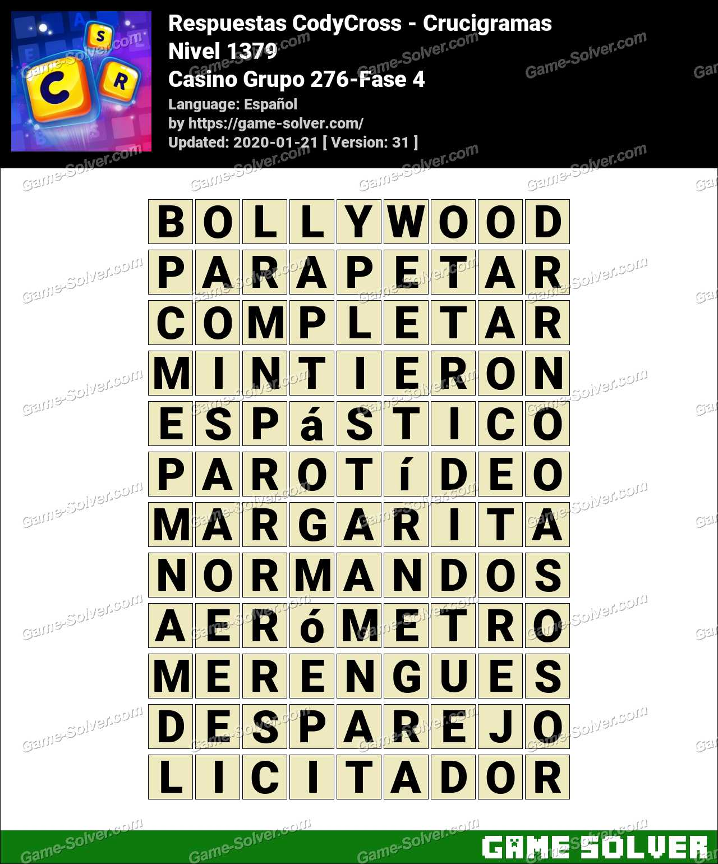 Respuestas CodyCross Casino Grupo 276-Fase 4