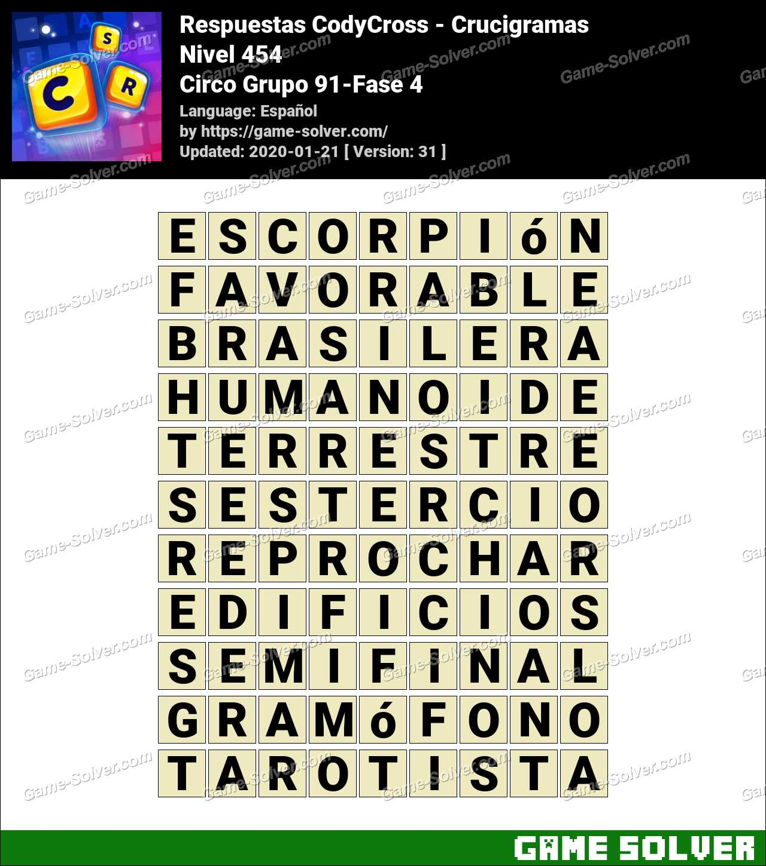 Respuestas CodyCross Circo Grupo 91-Fase 4