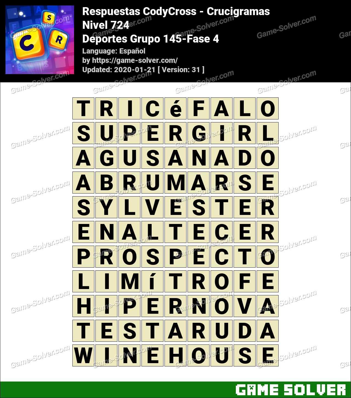 Respuestas CodyCross Deportes Grupo 145-Fase 4