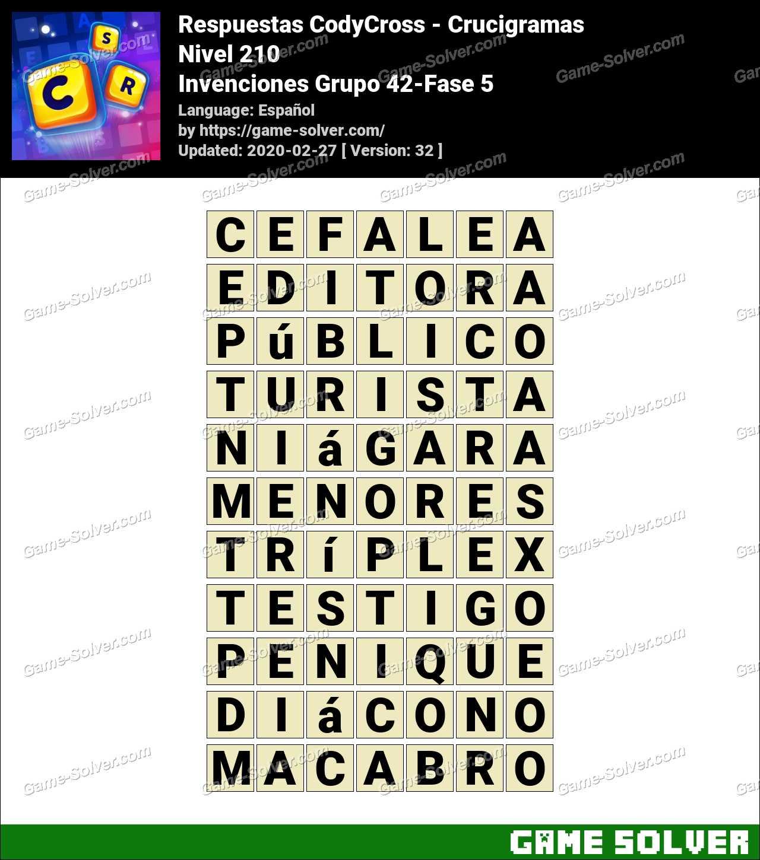 Respuestas CodyCross Invenciones Grupo 42-Fase 5