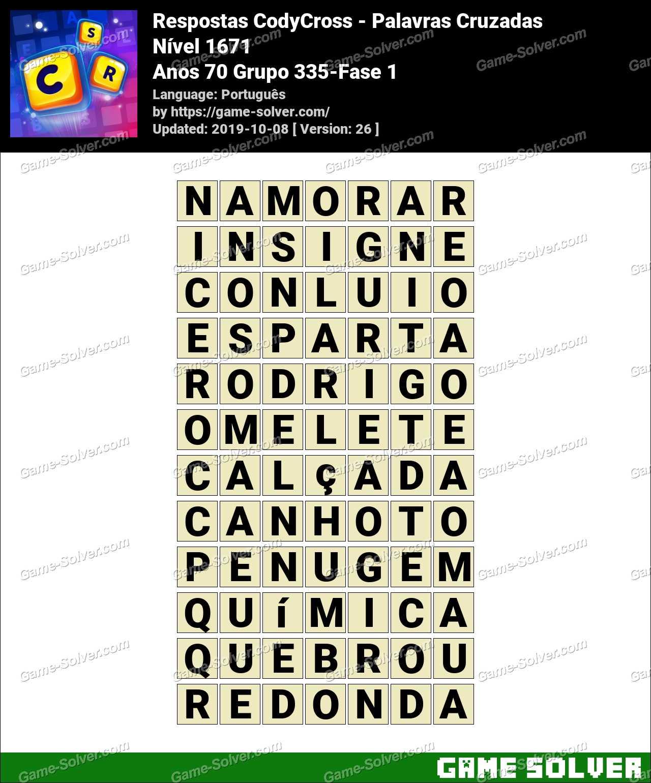 Respostas CodyCross Anos 70 Grupo 335-Fase 1