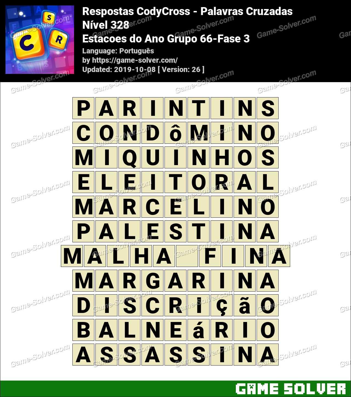 Respostas CodyCross Estacoes do Ano Grupo 66-Fase 3