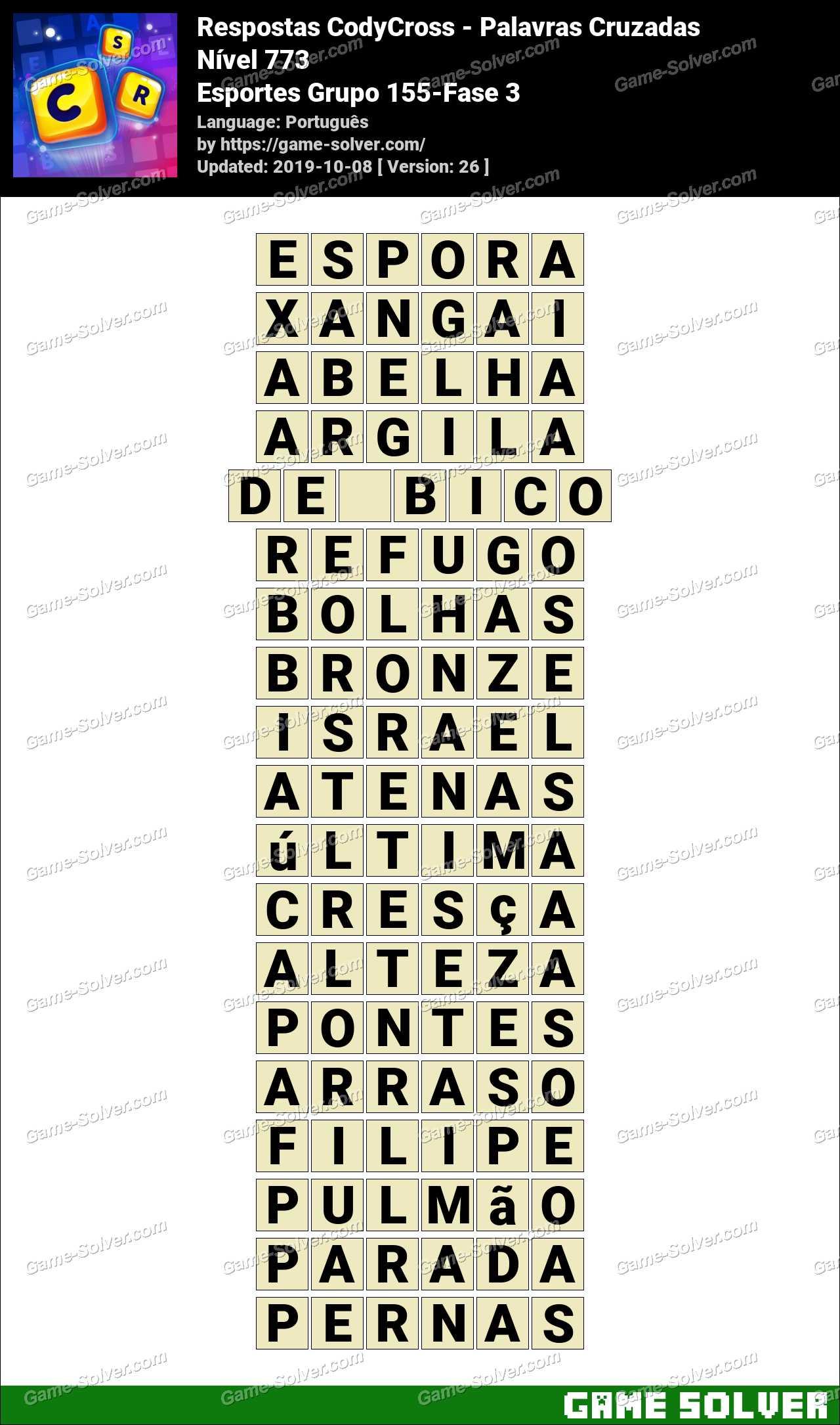 Respostas CodyCross Esportes Grupo 155-Fase 3