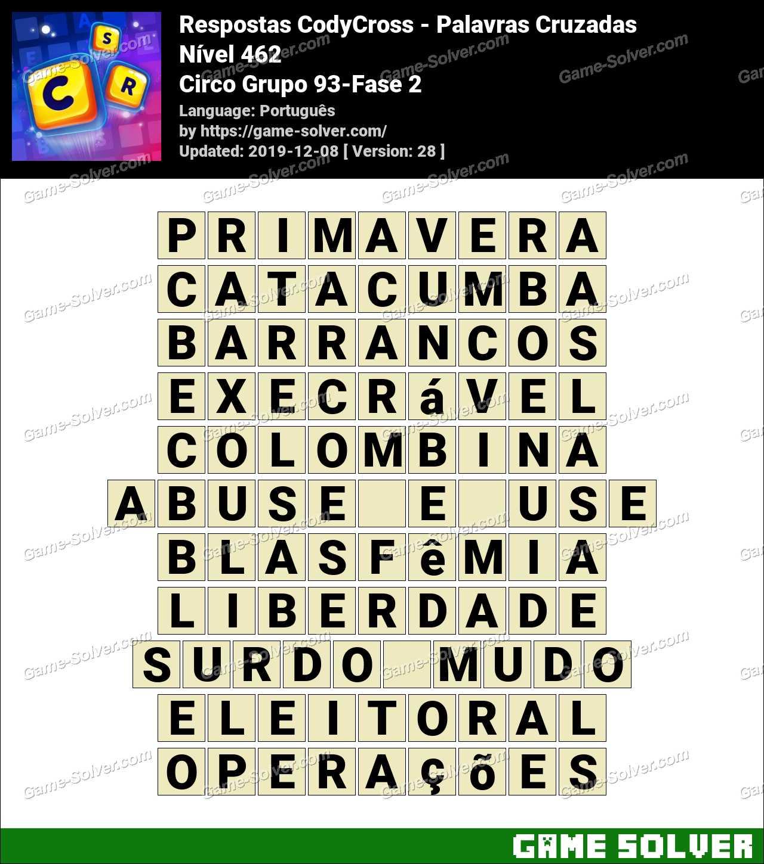 Respostas CodyCross Circo Grupo 93-Fase 2