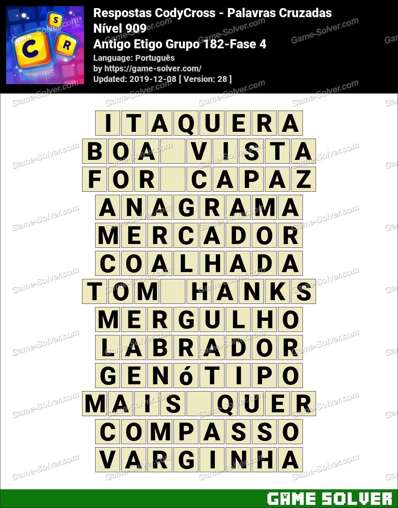 Respostas CodyCross Antigo Etigo Grupo 182-Fase 4