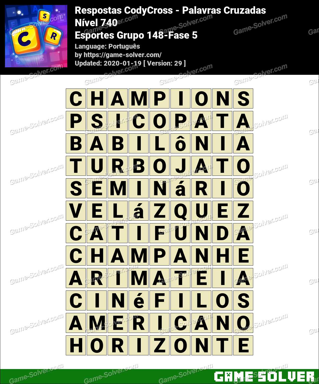 Respostas CodyCross Esportes Grupo 148-Fase 5