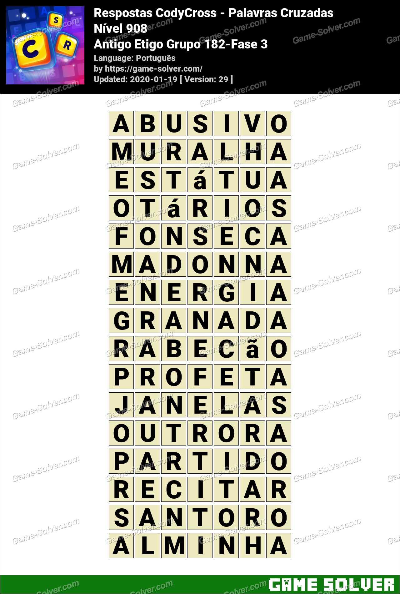 Respostas CodyCross Antigo Etigo Grupo 182-Fase 3