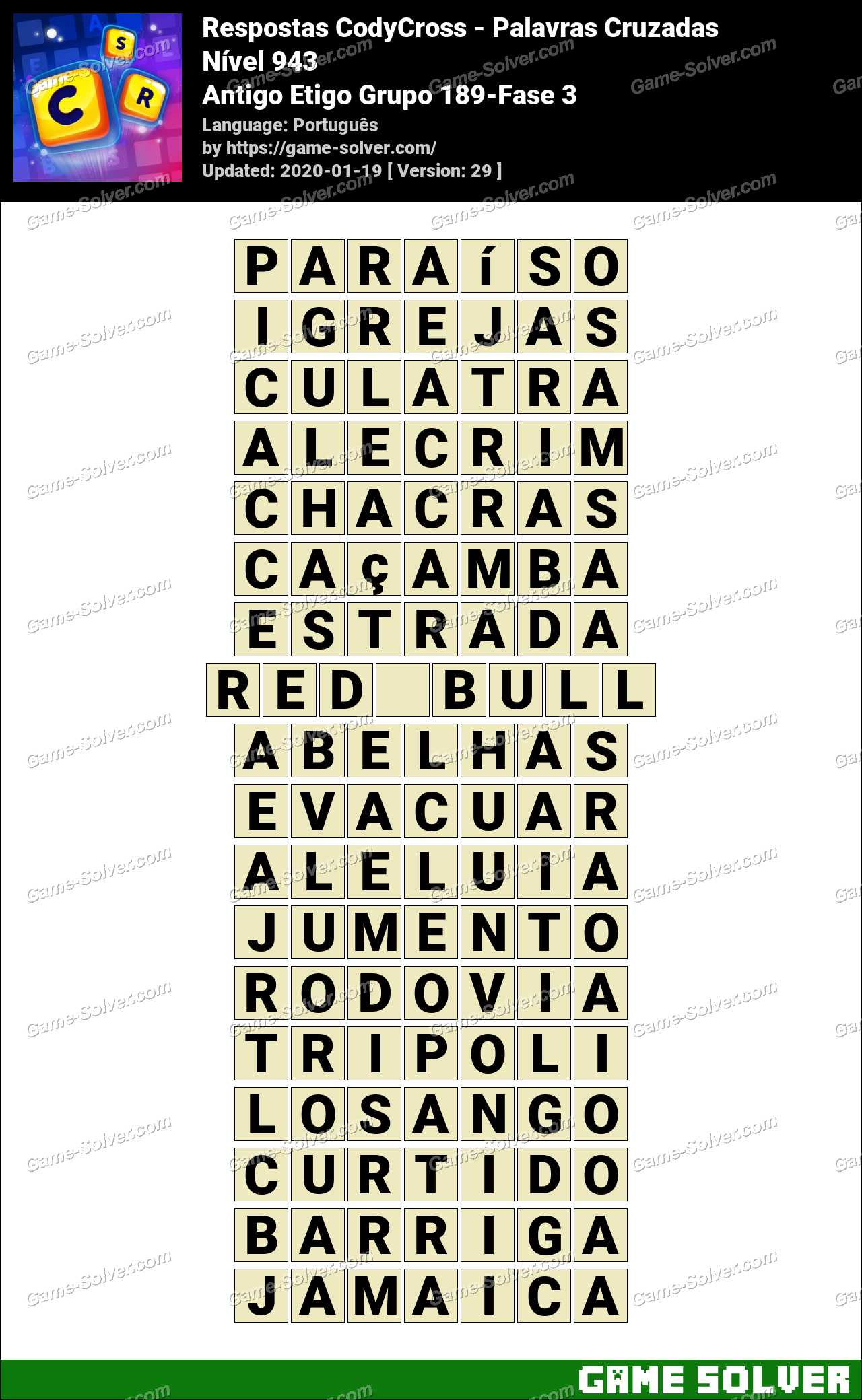 Respostas CodyCross Antigo Etigo Grupo 189-Fase 3