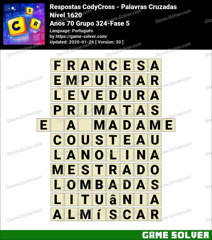 Respostas CodyCross Anos 70 Grupo 324-Fase 5