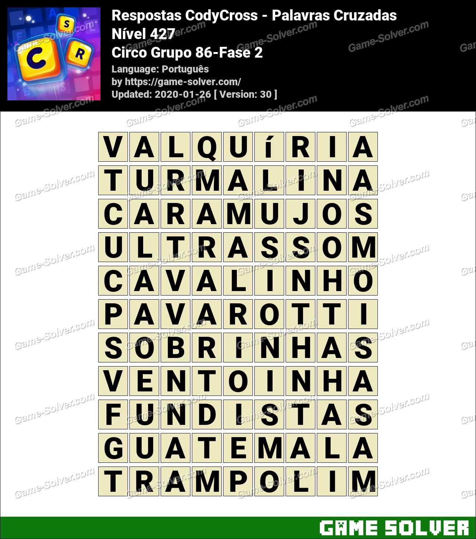Respostas CodyCross Circo Grupo 86-Fase 2