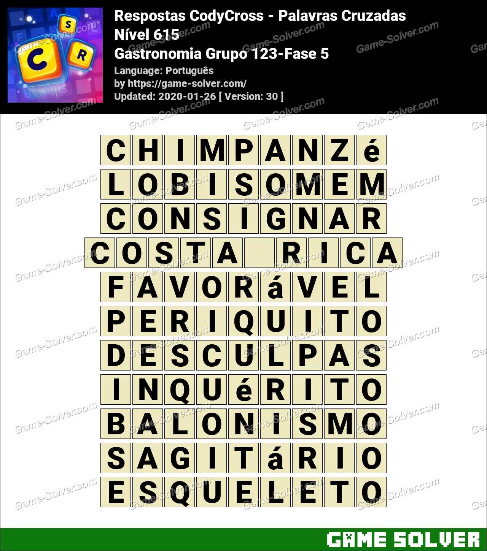 Respostas CodyCross Gastronomia Grupo 123-Fase 5