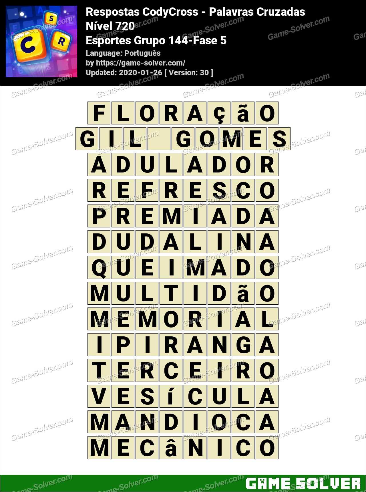 Respostas CodyCross Esportes Grupo 144-Fase 5