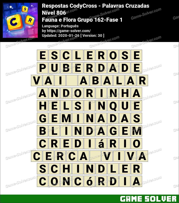 Respostas CodyCross Fauna e Flora Grupo 162-Fase 1