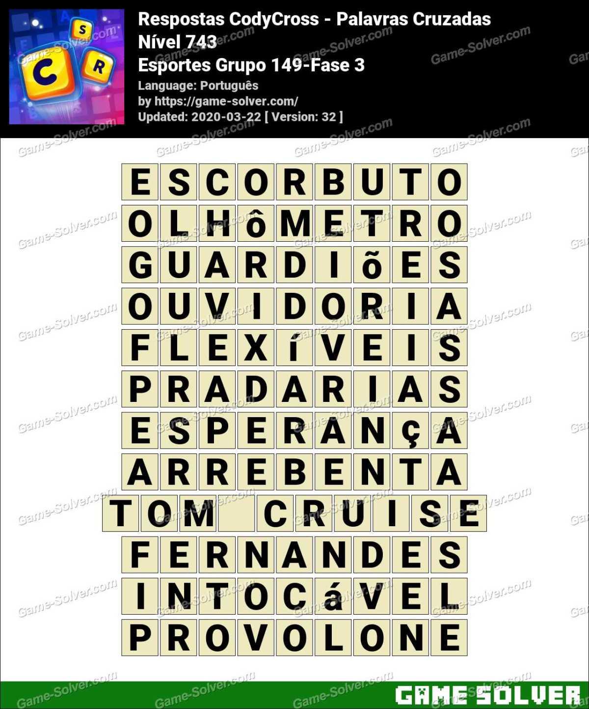Respostas CodyCross Esportes Grupo 149-Fase 3
