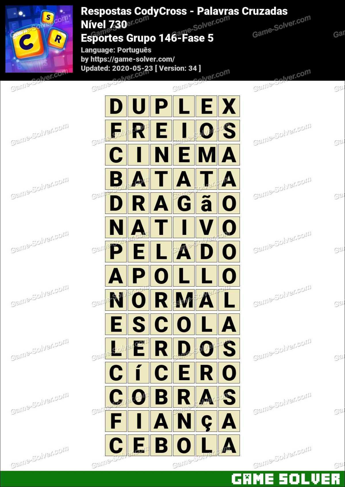 Respostas CodyCross Esportes Grupo 146-Fase 5