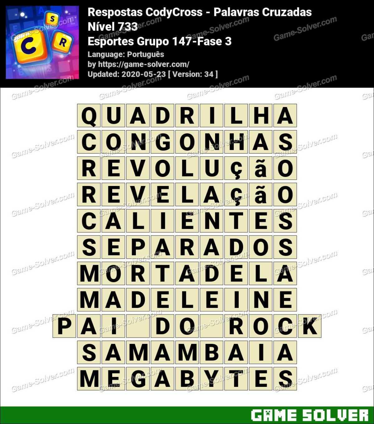 Respostas CodyCross Esportes Grupo 147-Fase 3