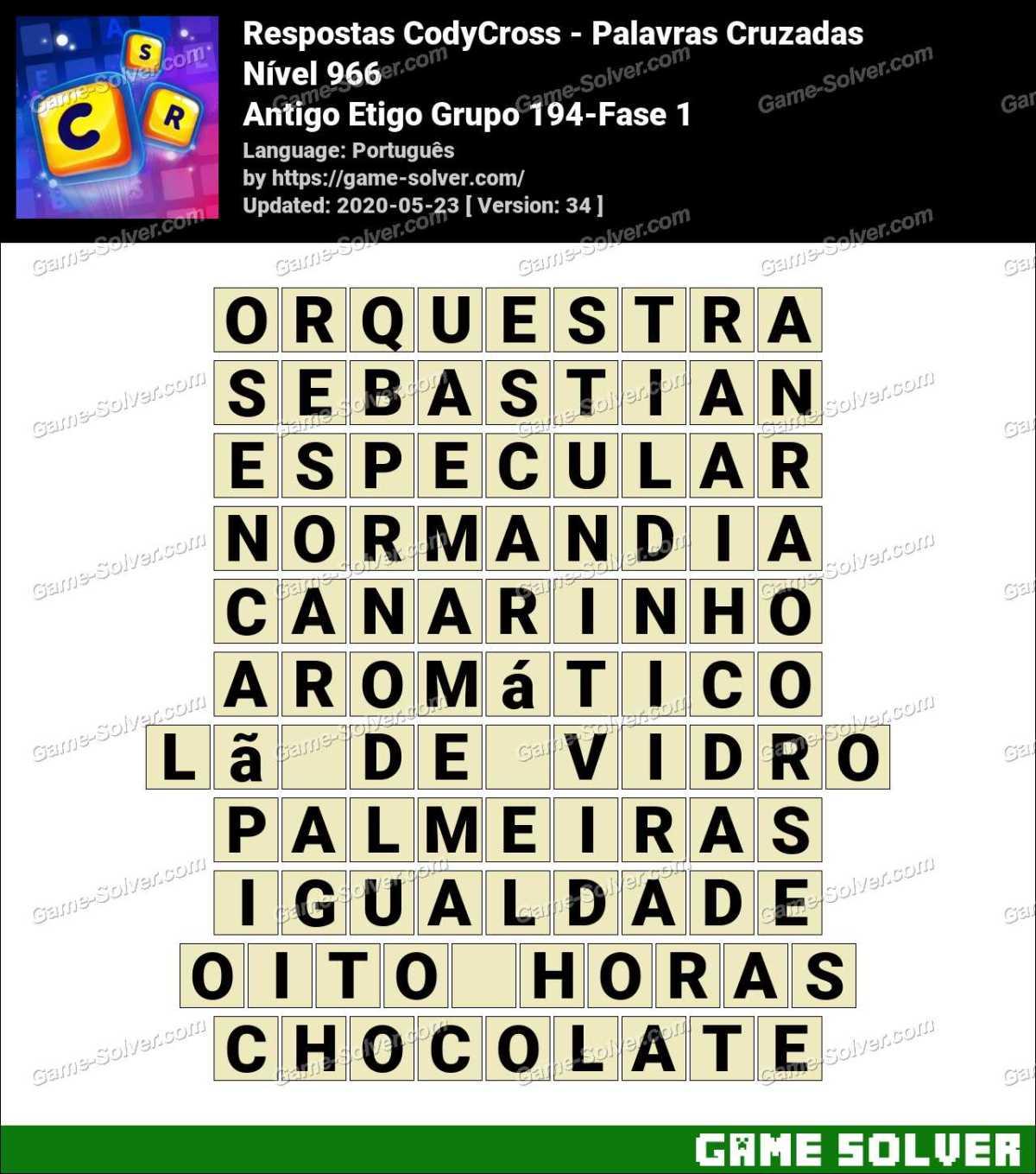 Respostas CodyCross Antigo Etigo Grupo 194-Fase 1