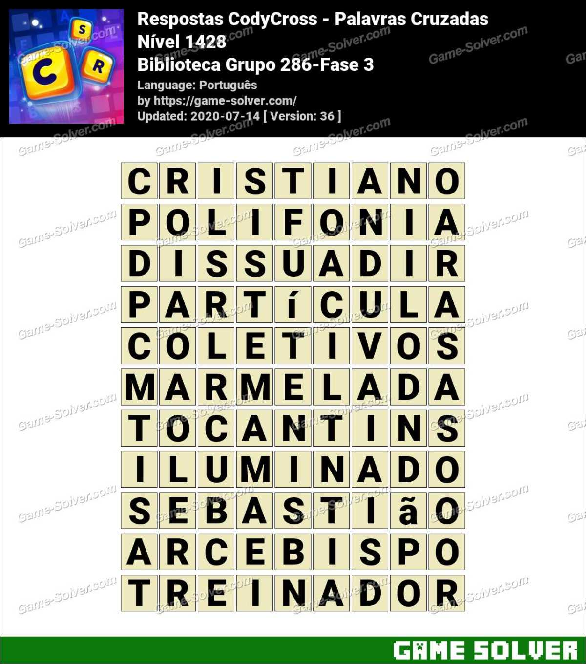 Respostas CodyCross Biblioteca Grupo 286-Fase 3