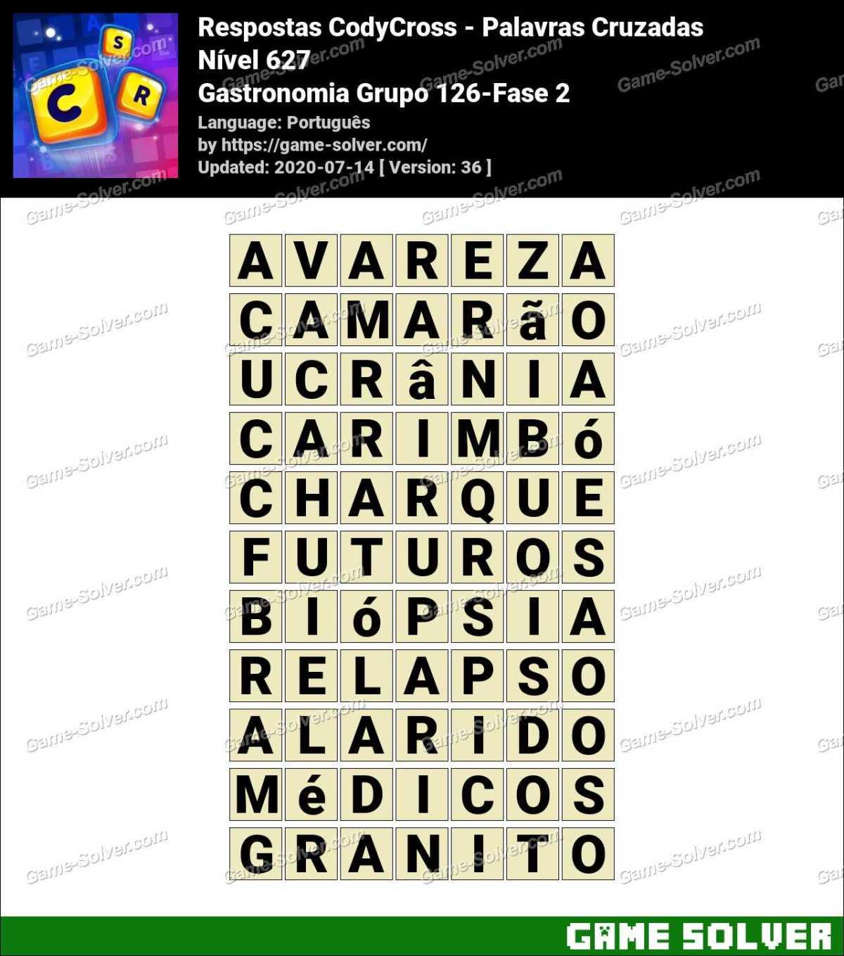 Respostas CodyCross Gastronomia Grupo 126-Fase 2