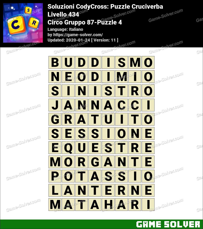 Soluzioni CodyCross Circo Gruppo 87-Puzzle 4